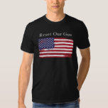 Black t-shirt with flag and Reset Our Gov