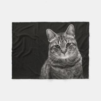 Black Tabby Kitten Fleece Blanket