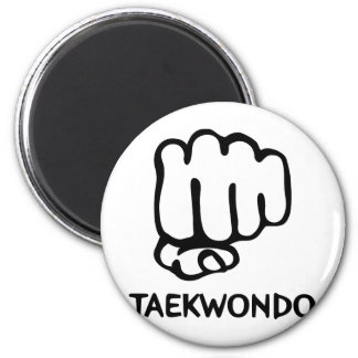 black taekwondo icon magnet