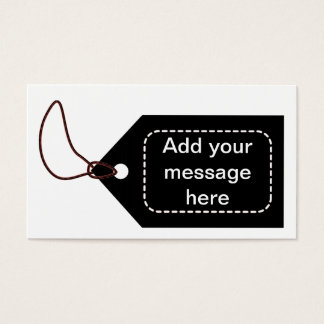 Black Tag Business Card