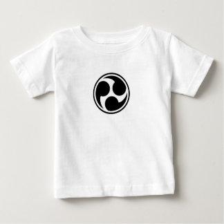 Black Taiko Mitsudomoe Baby T-Shirt