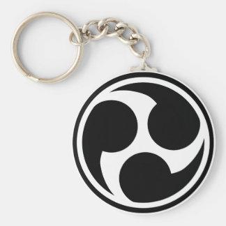 Black Taiko Mitsudomoe Keychain