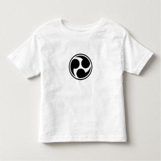 Black Taiko Mitsudomoe Toddler T-shirt