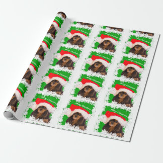 Black Tan Cavalier King Charles Christmas Paper