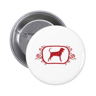 Black Tan Coonhound Button