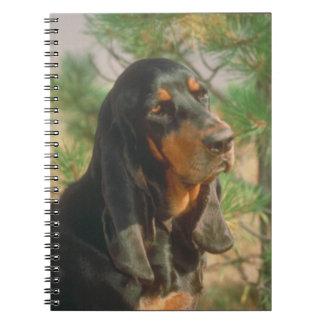 Black & Tan Coonhound Dog Notebook