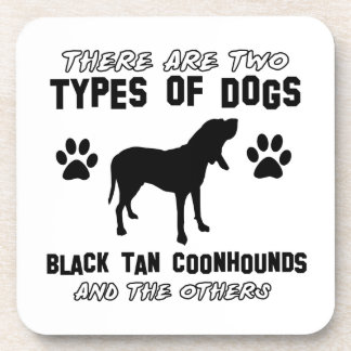 black tan coonhound gift items drink coaster