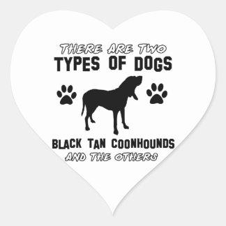 black tan coonhound gift items heart sticker