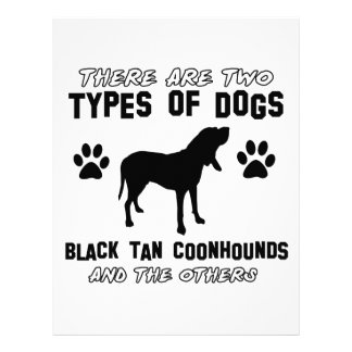black tan coonhound gift items letterhead