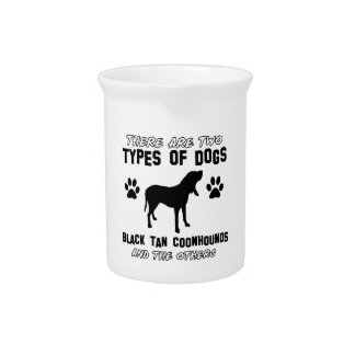 black tan coonhound gift items beverage pitchers
