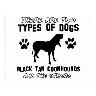 black tan coonhound gift items postcards