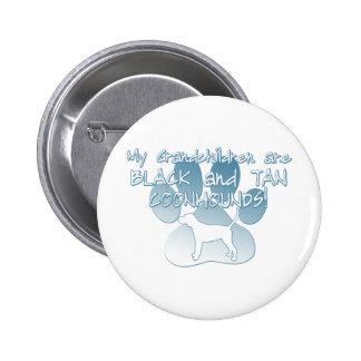 Black Tan Coonhound Grandchildren Button