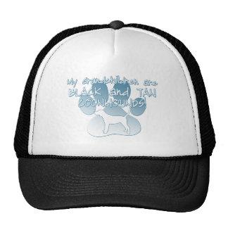 Black & Tan Coonhound Grandchildren Mesh Hats