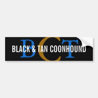 Black & Tan Coonhound Monogram Car Bumper Sticker