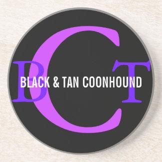 Black & Tan Coonhound Monogram Coasters