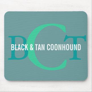 Black & Tan Coonhound Monogram Mouse Pad