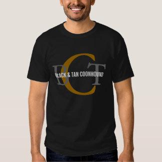 Black & Tan Coonhound Monogram T Shirts