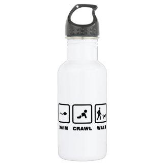 Black & Tan Coonhound 18oz Water Bottle