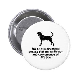 Black Tan Coonhound Pinback Button