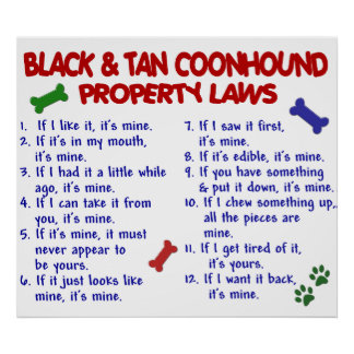 BLACK TAN COONHOUND PL2 POSTER