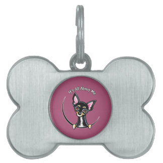 Black Tan Smooth Chihuahua IAAM Pet ID Tag