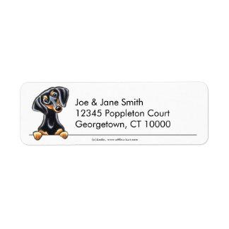 Black Tan Smooth Dachshund Clean & Simple Return Address Label