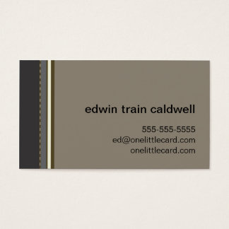 Black & Tan Stripes Card