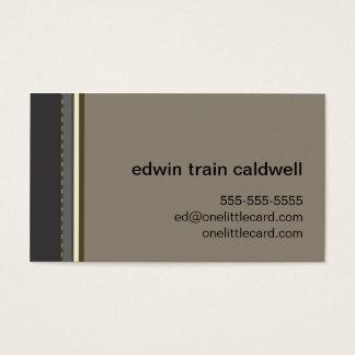 Black & Tan Stripes Card