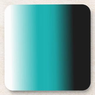 Black Teal White Ombre Coaster