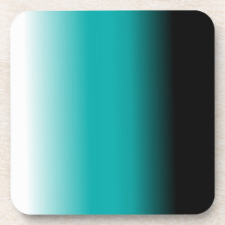 Black Teal White Ombre Drink Coaster