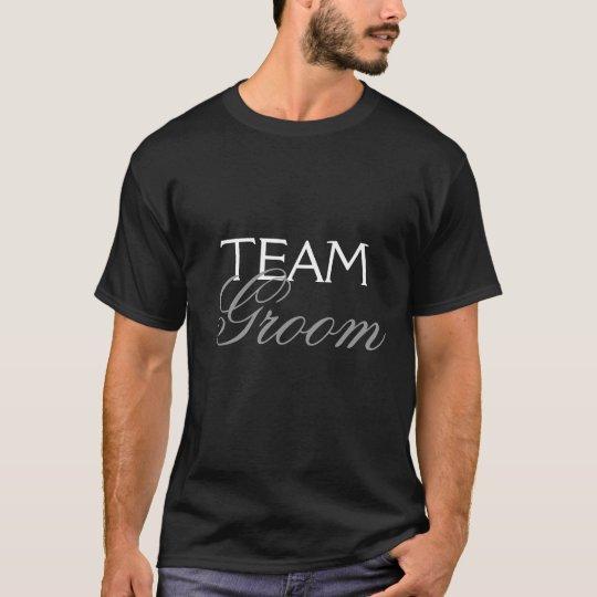 Black Team Groom T-Shirt Bachelor Best man men
