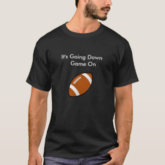 Black Tee For Game Day  Football Game On
