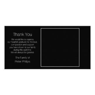 Black Template Sympathy Thank You + white border Photo Card