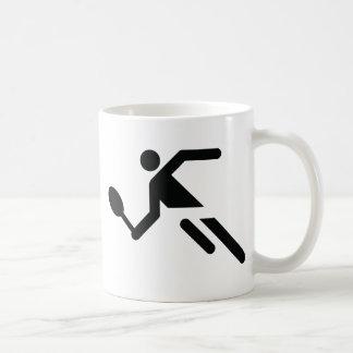 black tennis icon coffee mug