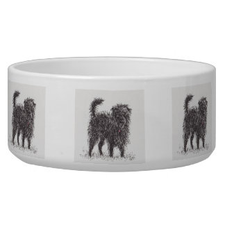 Black Terrier Dog Bowl