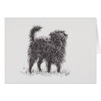 Black Terrier greeting card