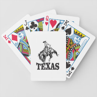 Black Texas Bicycle Playing Cards