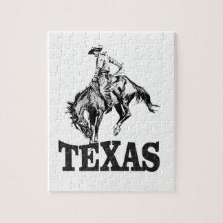 Black Texas Jigsaw Puzzle