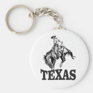 Black Texas Keychain