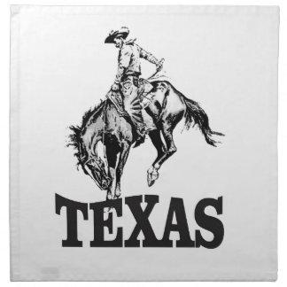 Black Texas Napkin