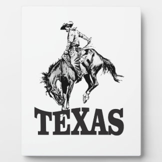 Black Texas Plaque