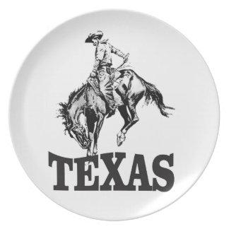 Black Texas Plate