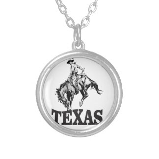 Black Texas Silver Plated Necklace