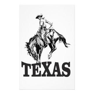 Black Texas Stationery