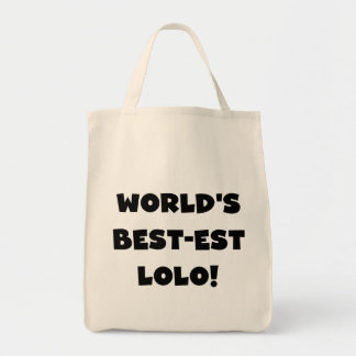 Black Text Best-est Lolo T-shirts and Gifts Grocery Tote Bag