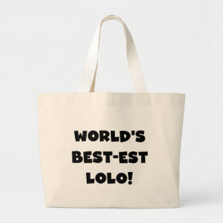 Black Text Best-est Lolo T-shirts and Gifts Jumbo Tote Bag