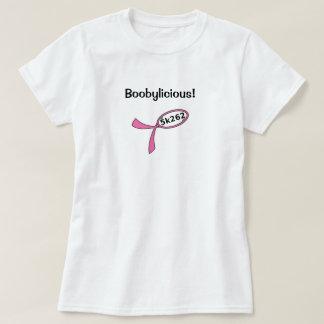Black text: Boobylicious! T-Shirt