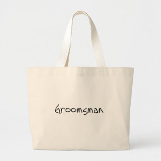 Black Text Groomsman Tote Bag