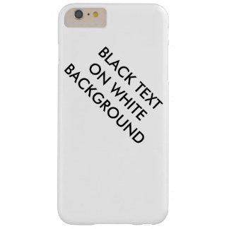 Black text on white background case
