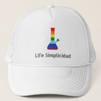 Black Text Rainbow Bong by Life Simplicidad Trucker Hat